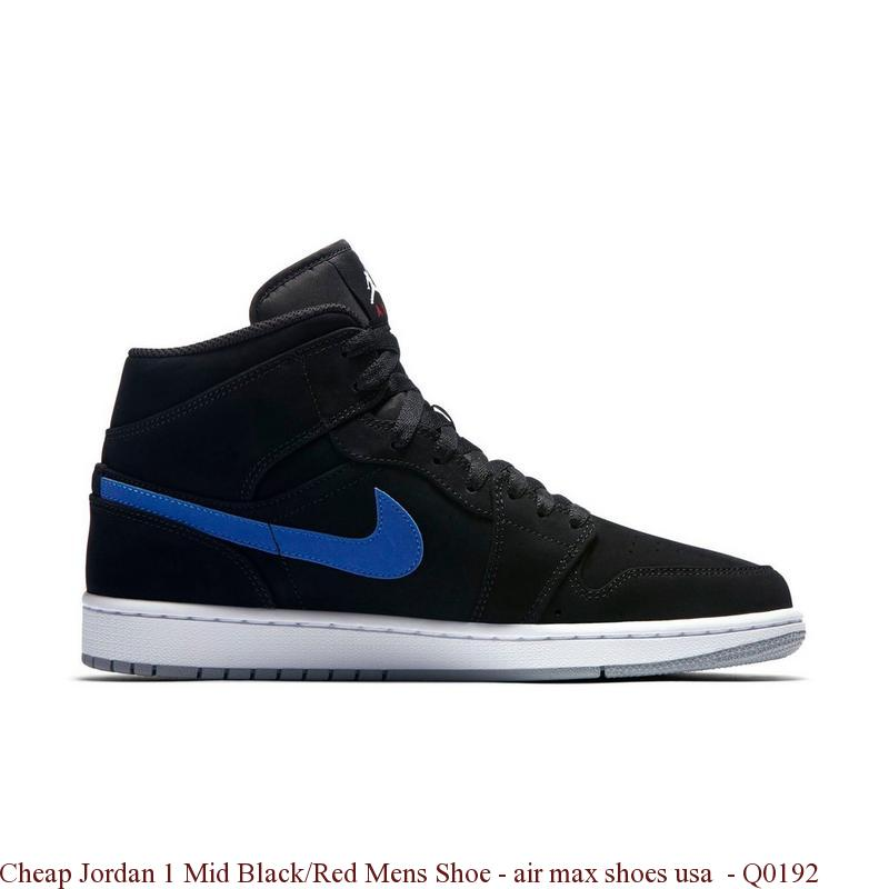 23f44f787c2 Cheap Jordan 1 Mid Black Red Mens Shoe – air max shoes usa – Q0192 ...