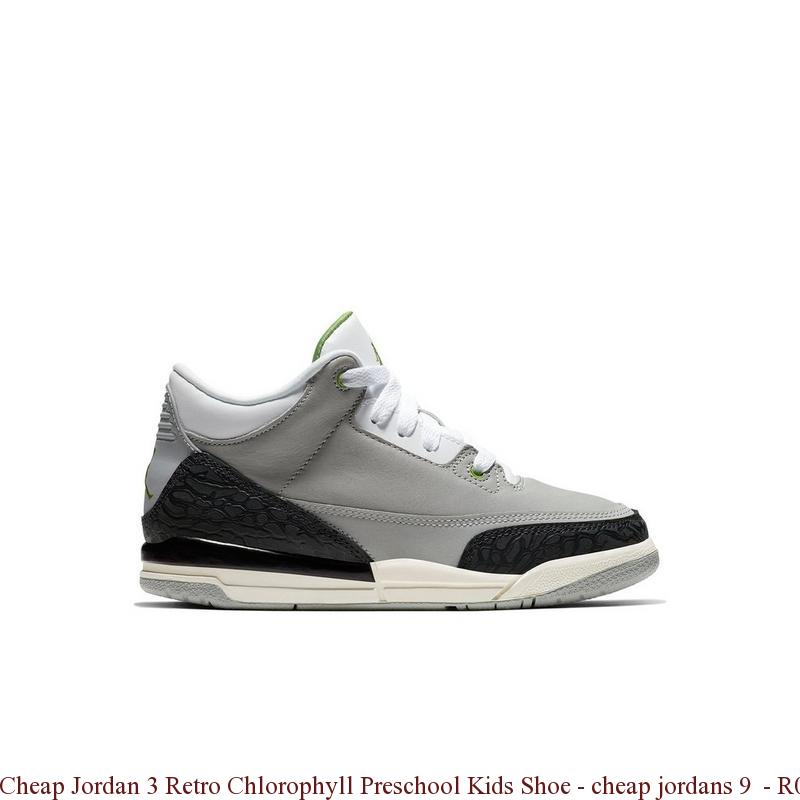 check-out b3aa8 f896f Cheap Jordan 3 Retro Chlorophyll Preschool Kids Shoe - cheap jordans 9 -  R0366