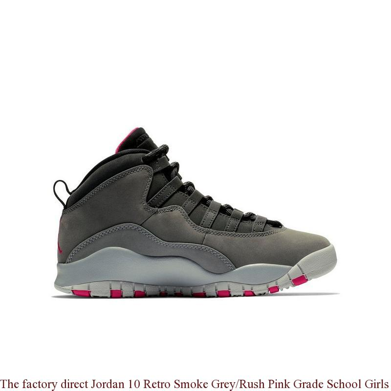 fff4122184d6f8 The factory direct Jordan 10 Retro Smoke Grey Rush Pink Grade School ...